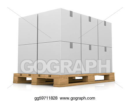 Boxes clipart pallet. Drawing and carton box