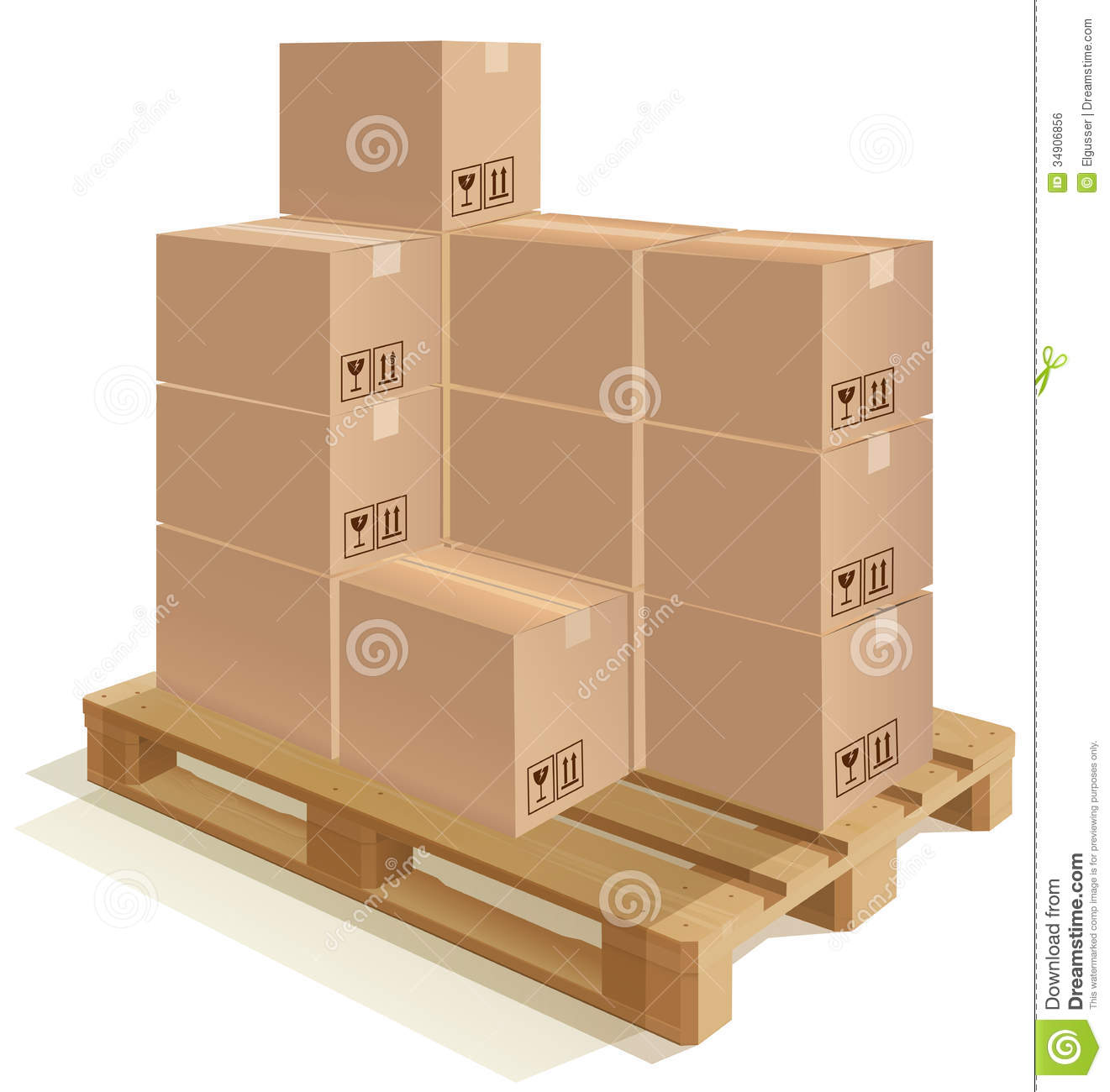 On . Boxes clipart pallet