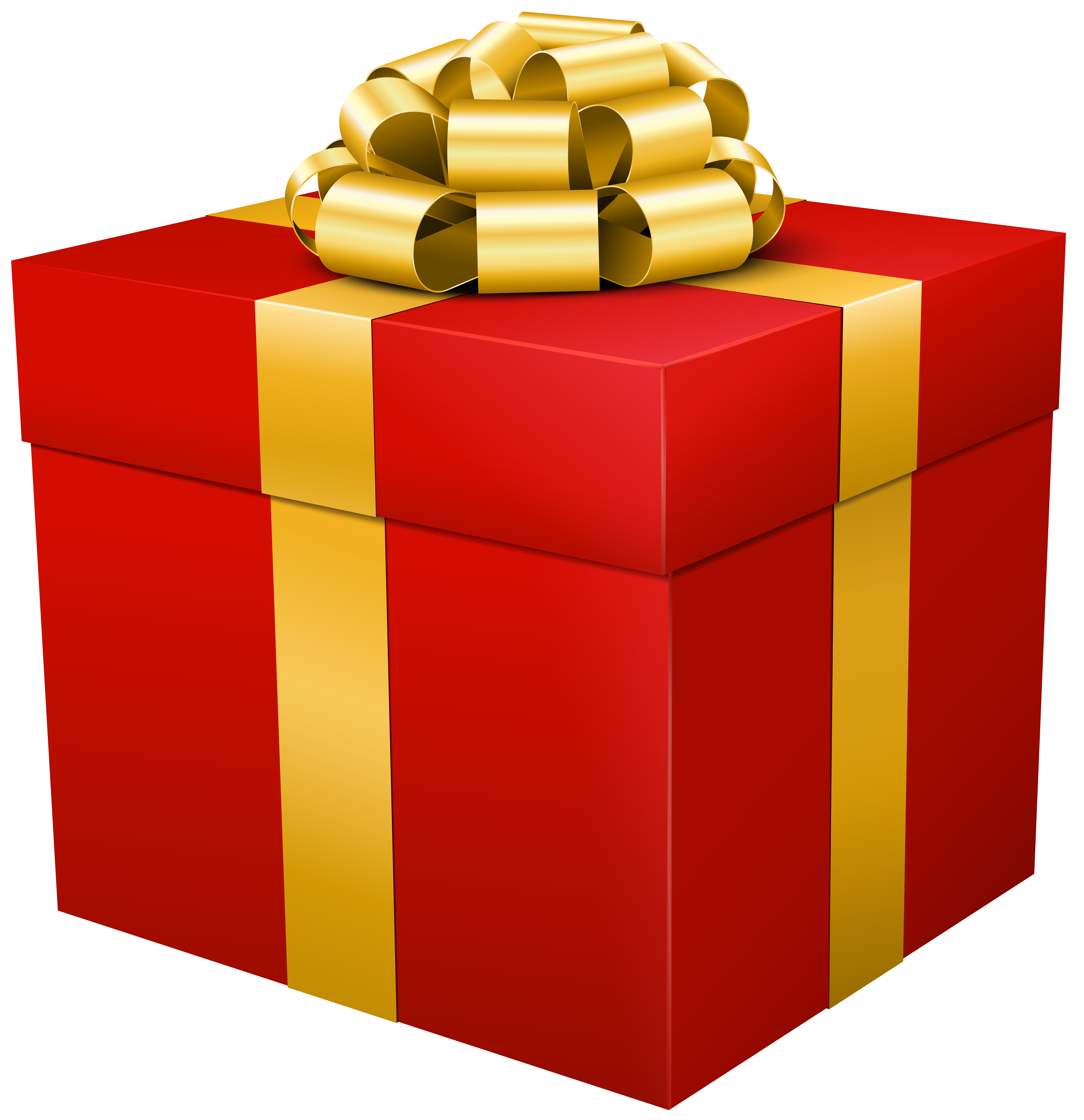 Gift clipart prsent. Red box transparent png