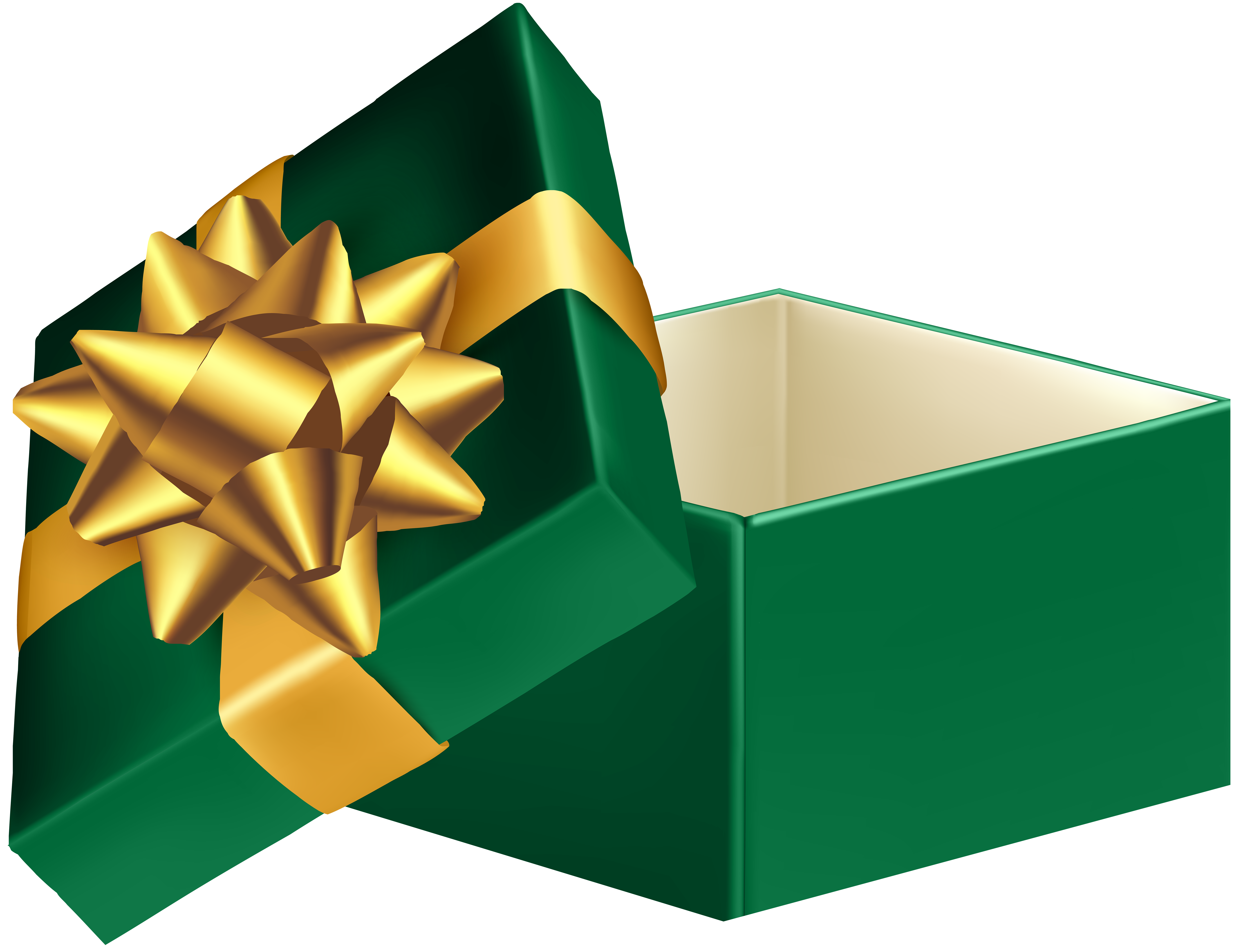 Clipart box quality. Green open gift png