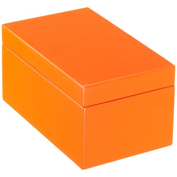 Orange lacquered storage boxes. Box clipart rectangular box