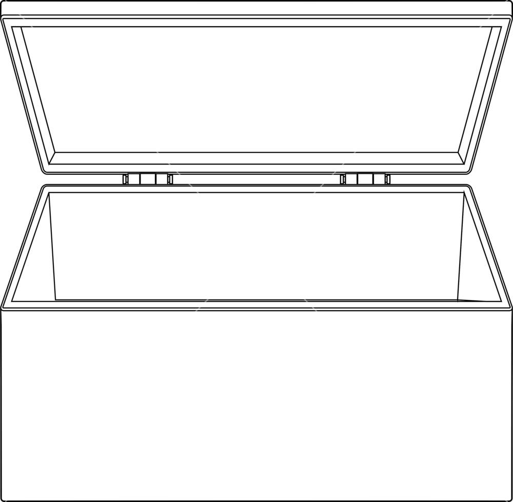 Open royalty free stock. Box clipart rectangular box