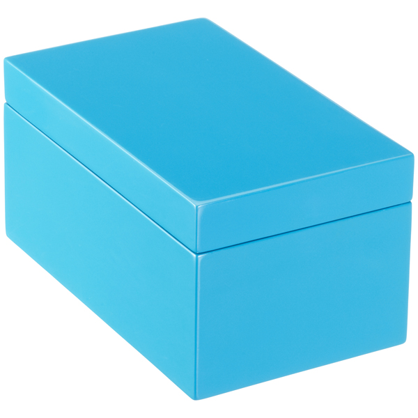 Blue lacquered storage boxes. Box clipart rectangular box