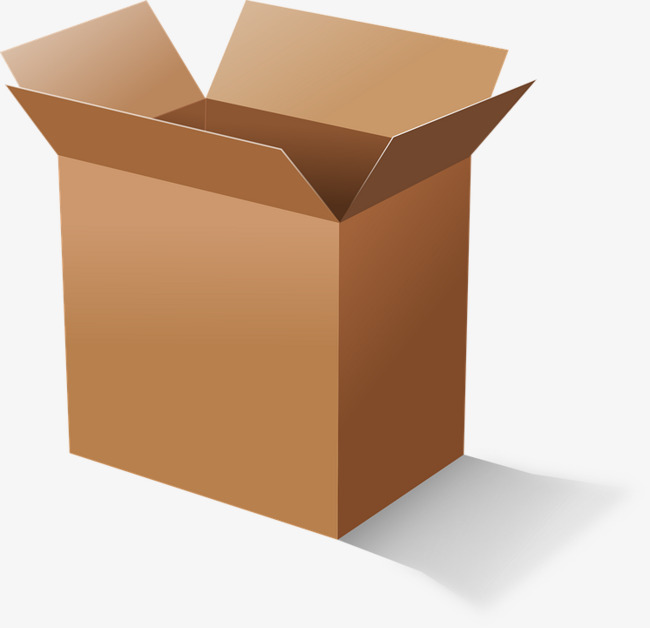Boxes clipart cardboard box. Packing tray png image