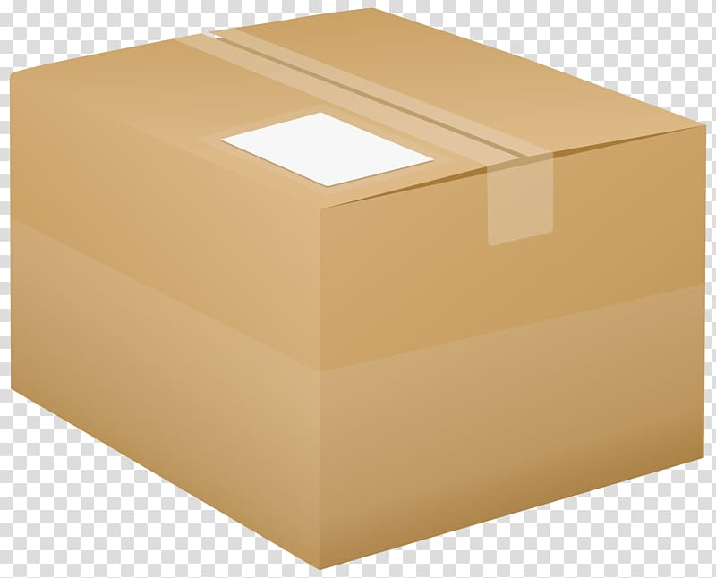 Cardboard box and labeling. Boxes clipart packaging