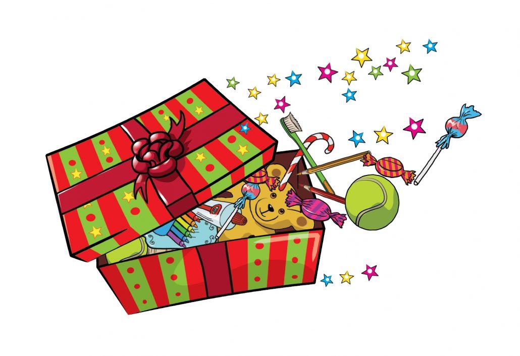 Box clipart shoe box. Christmas shoebox appeal roundwood
