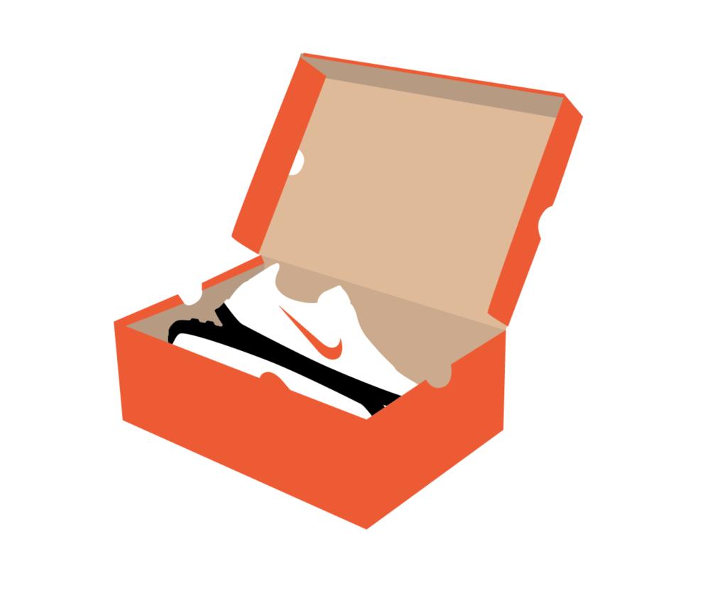 Nike option g visual. Box clipart shoe box