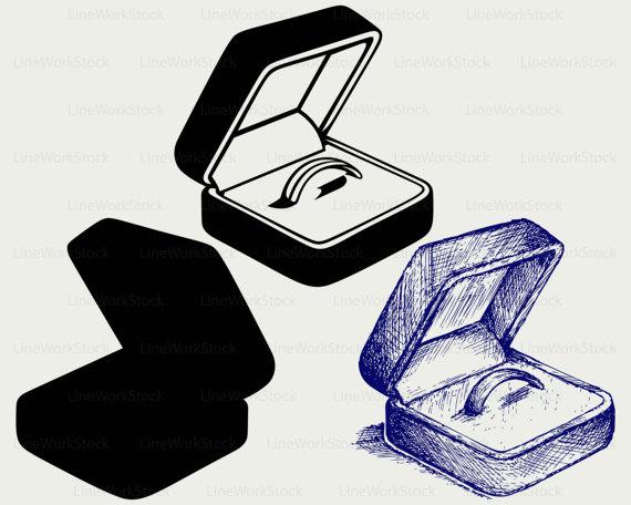 Box clipart silhouette. Wedding ring svg svgwedding