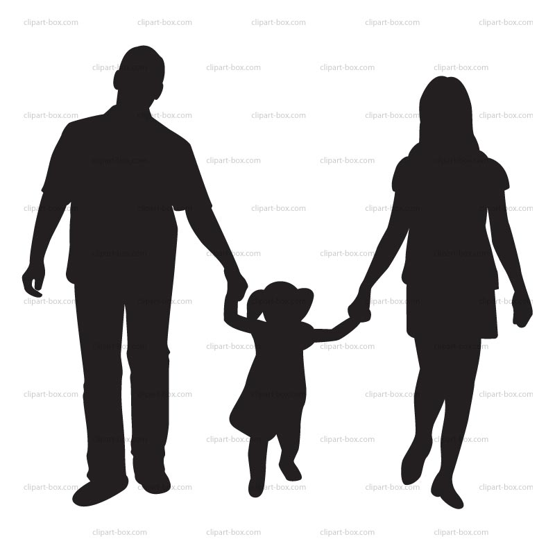 Box clipart silhouette. Child at getdrawings com