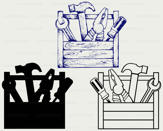 Box clipart silhouette. Toolbox svg tools