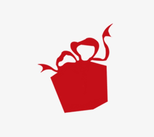 Red gift sketch png. Box clipart silhouette