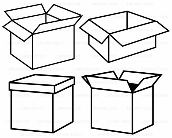 boxes clipart silhouette