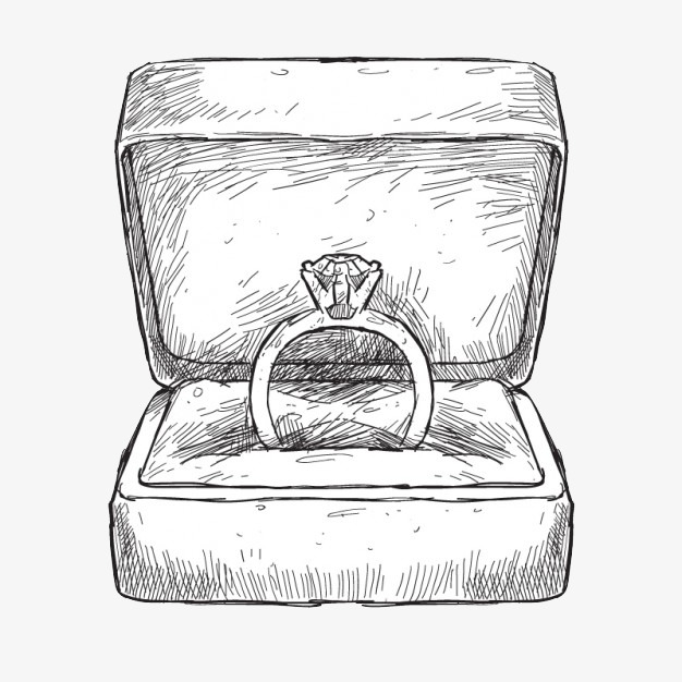 Boxes clipart sketch. Ring diamond box png