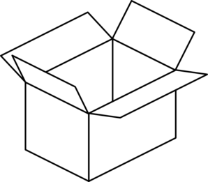 boxes clipart outline