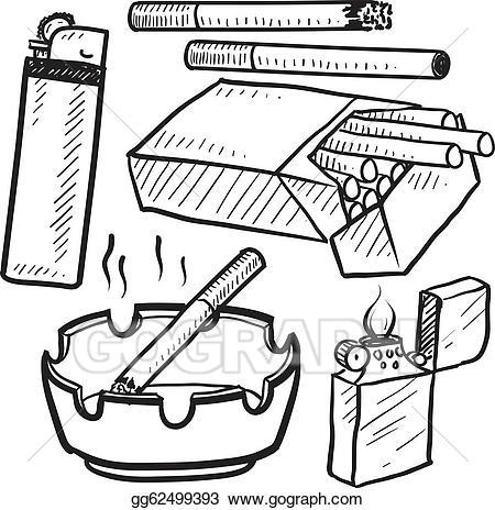 Cigarette . Cigar clipart sketch