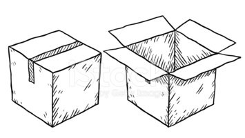 Boxes clipart sketch. Cardboard box stock vectors