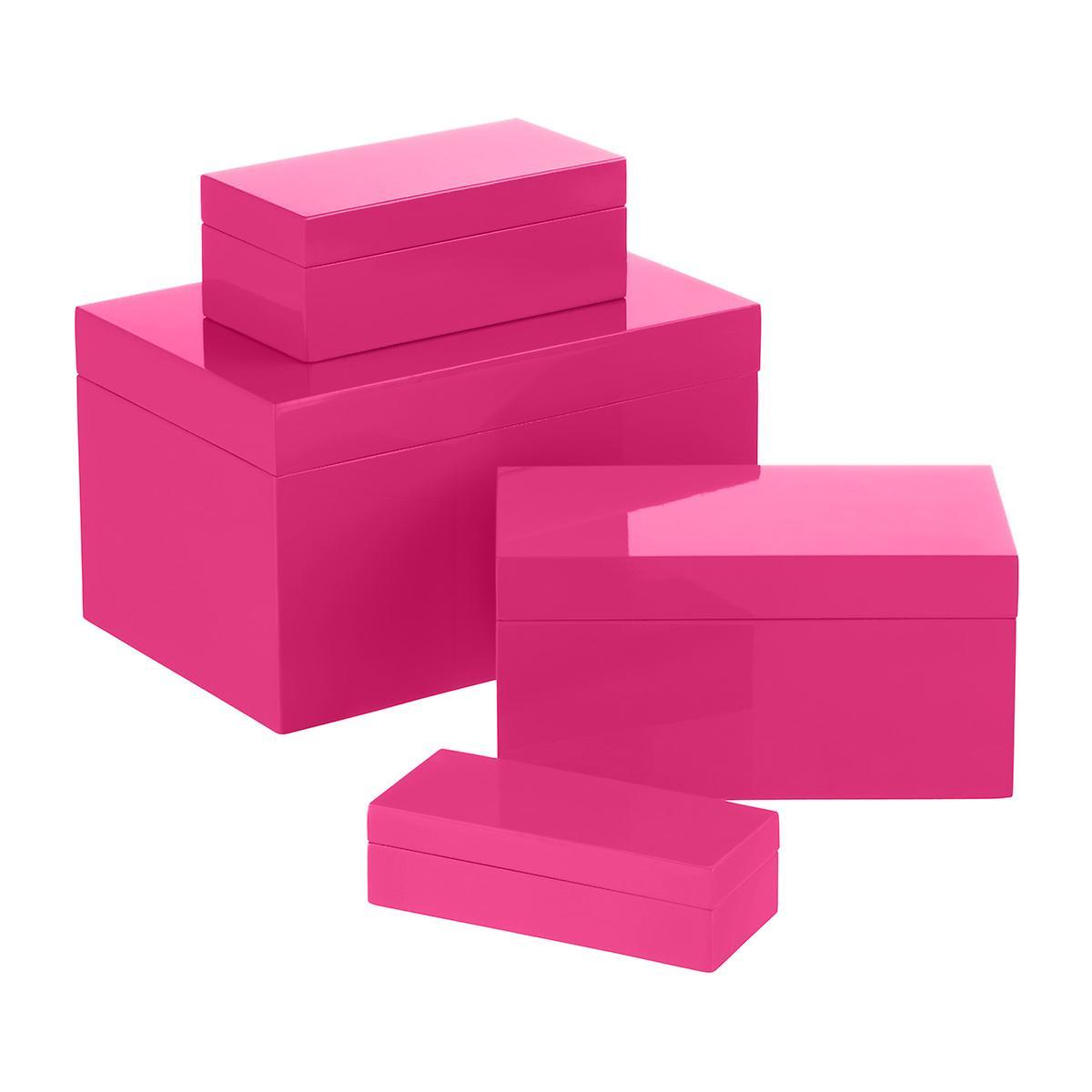Box clipart storage box. Fuchsia lacquered boxes the