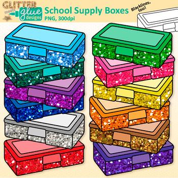 Box clipart supply. Boxes clip art school