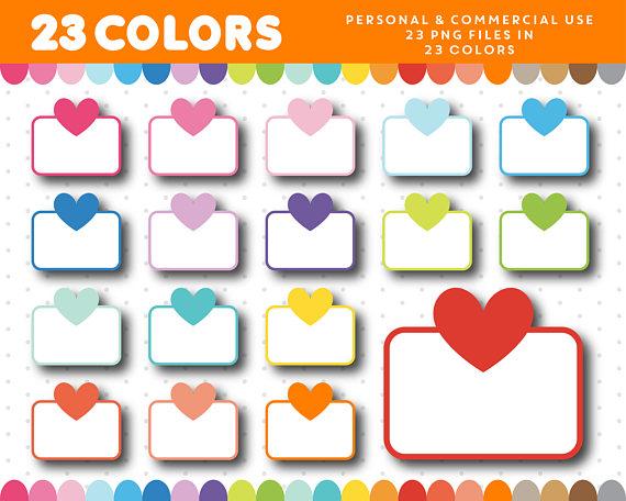Half heart box sticker. Boxes clipart supply