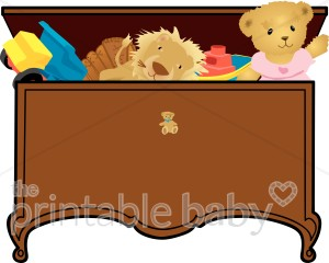 Boxes clipart toy. Antique box baby supplies
