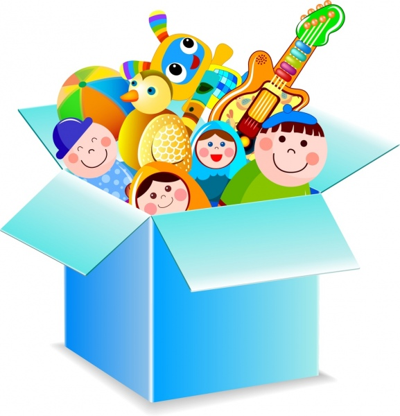 Boxes clipart toy. Box icon various colorful