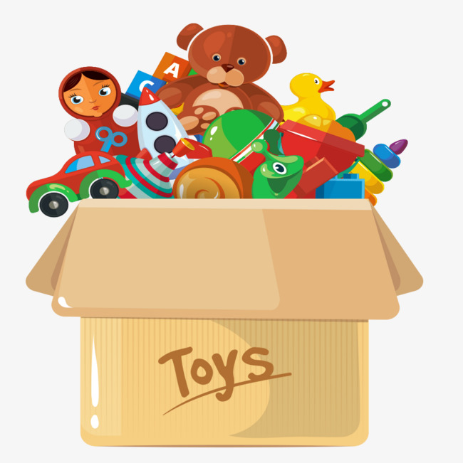Lovely box plush bear. Boxes clipart toy