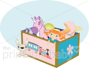 Box baby supplies. Boxes clipart toy