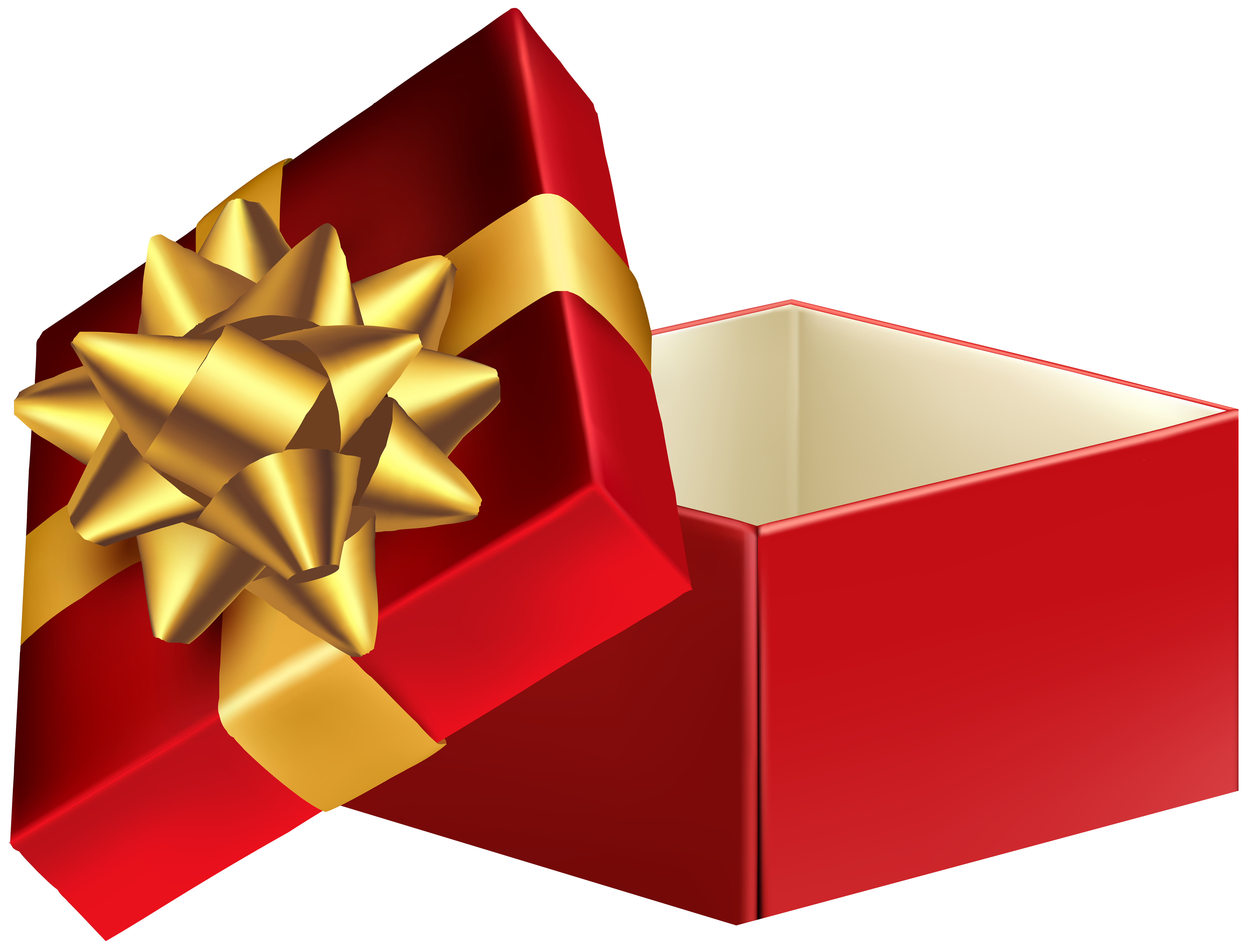 Boxes clipart transparent. Open gift box png