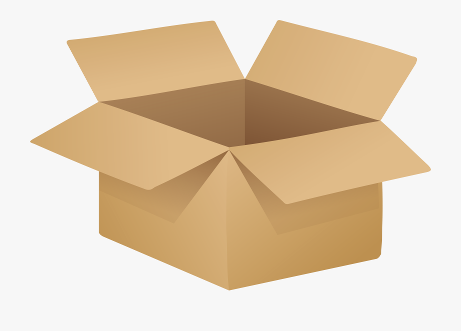 Boxes clipart transparent. Open cardboard box png