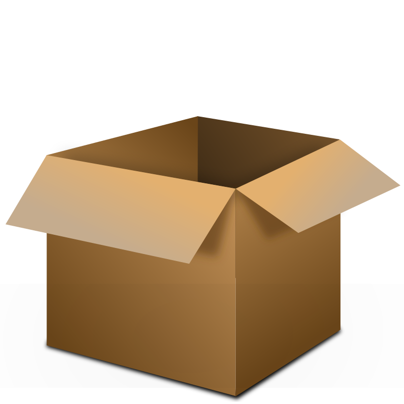Open . Box clipart transparent