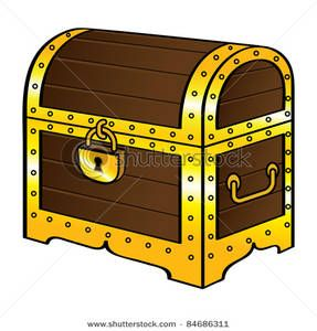 Treasure clipart old chest. Clip art image trunk