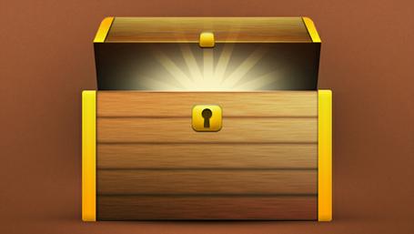 Free treasure and vector. Box clipart tresure