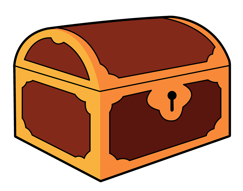collection of treasure. Clipart box chest