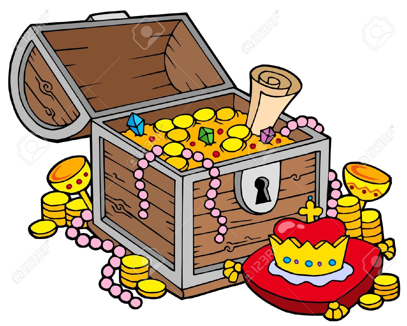 Treasure box . Boxes clipart tresure