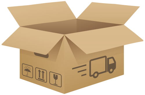Box clipart. Open cardboard png clip