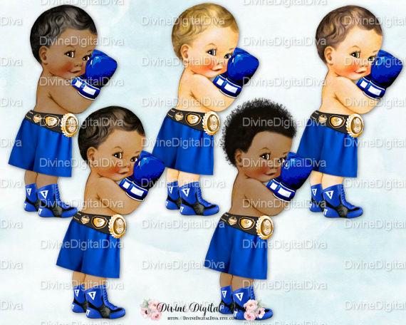 Little prince vintage boy. Boxer clipart baby