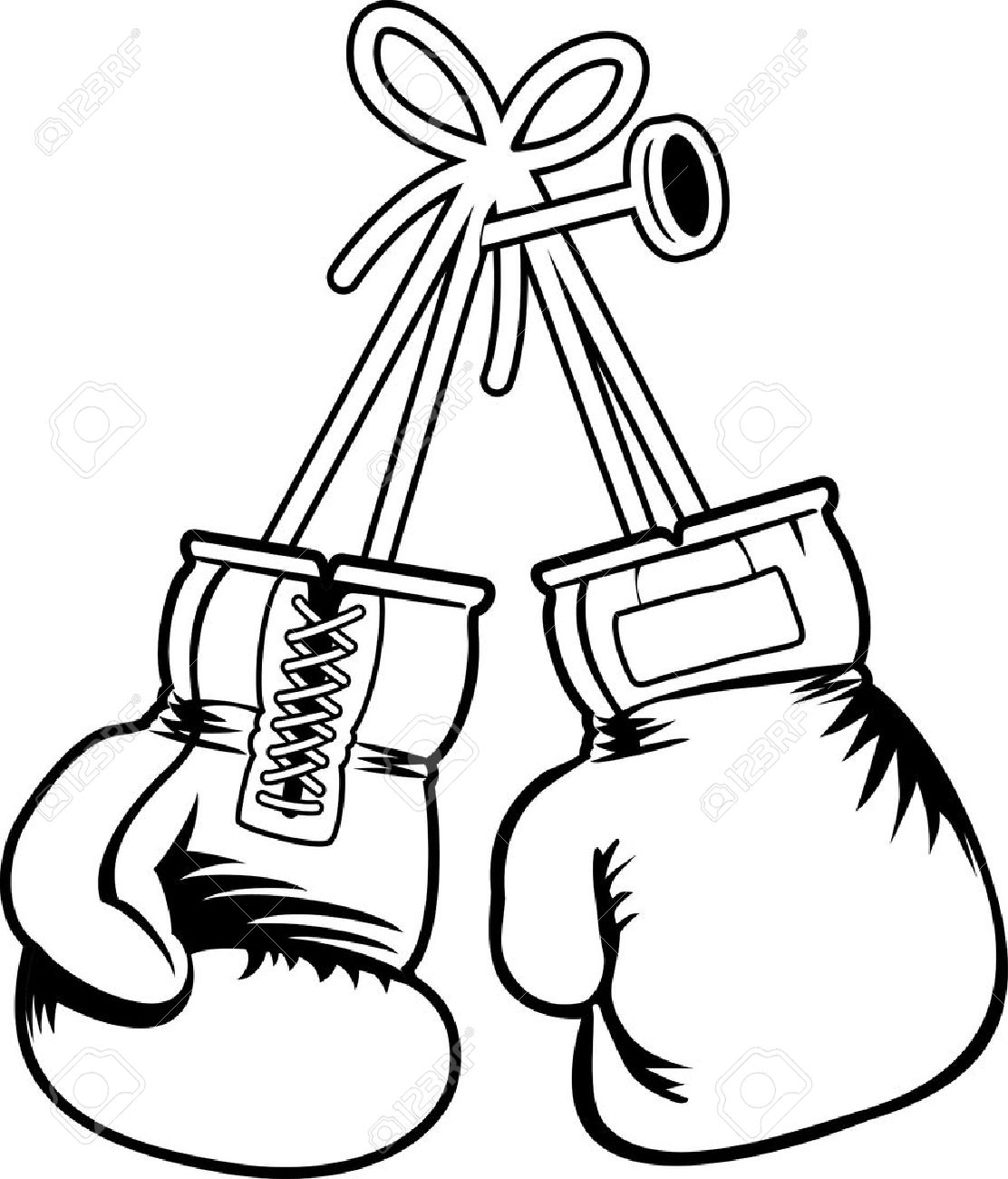 Boxer clipart black and white. Boxing drawing at getdrawings