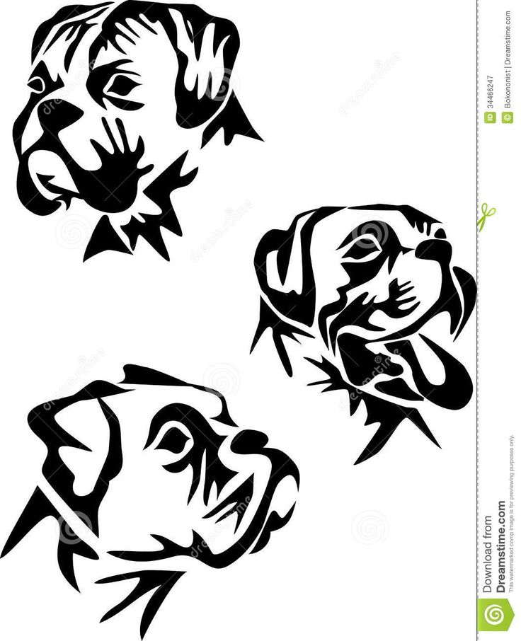 best industrial logos. Boxer clipart black and white