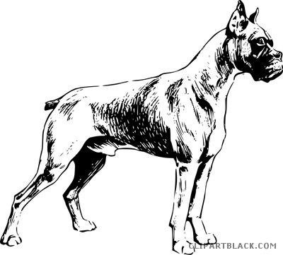 Clipartblack com animal free. Boxer clipart boxer dog