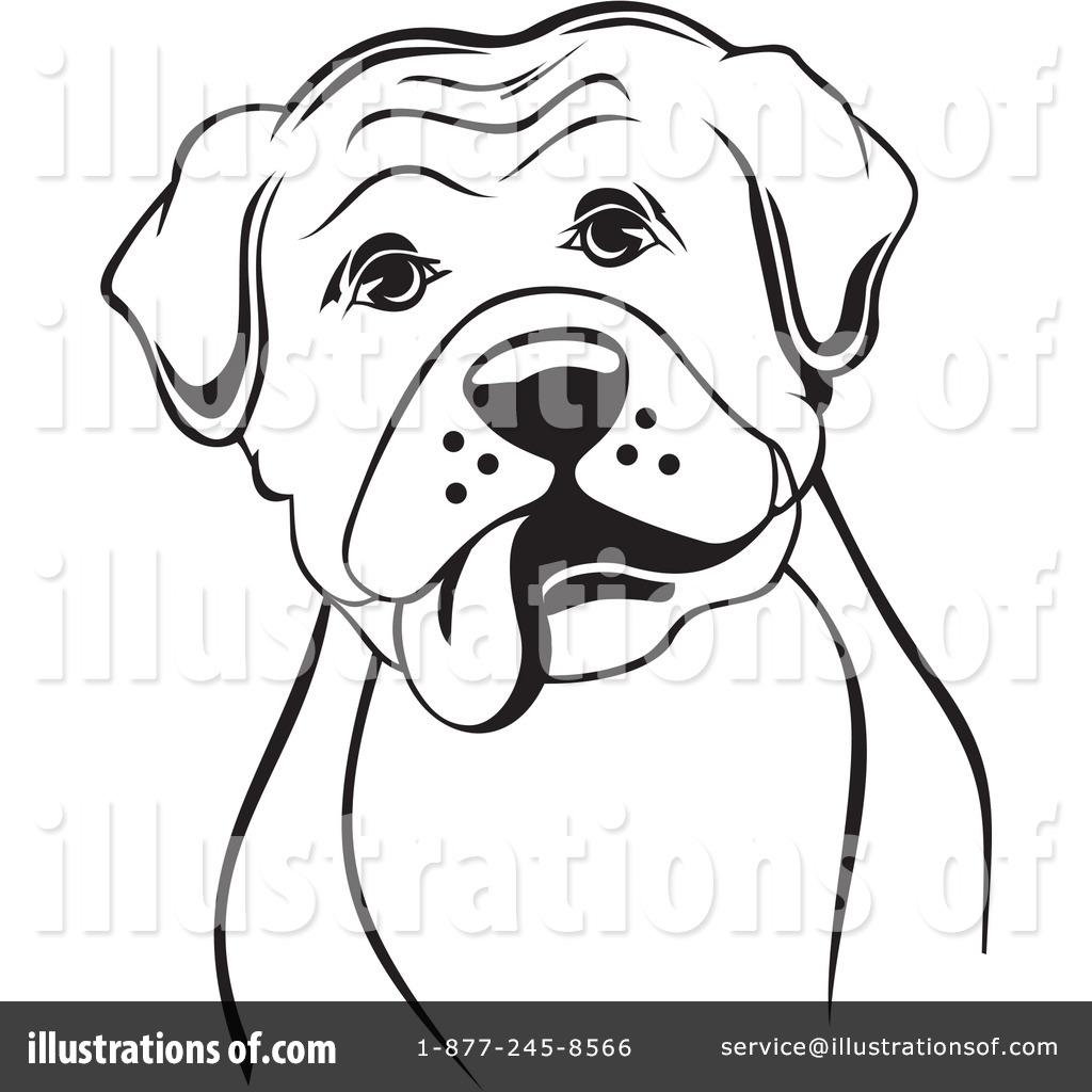 Boxer clipart boxer dog. Illustration by david rey