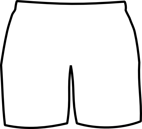 White boxer shorts clip. Swimsuit clipart swimming trunk