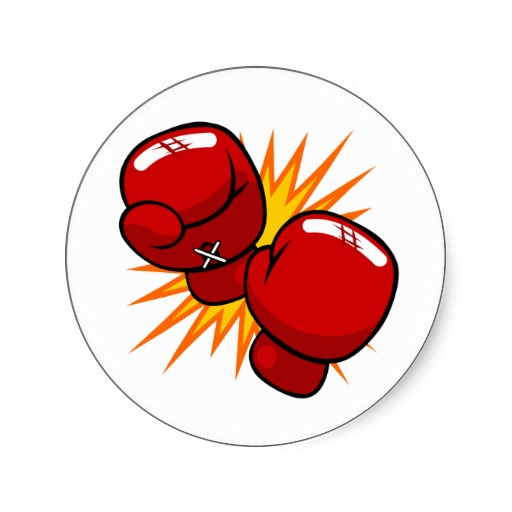 Boxer clipart boxercise. Round boxing