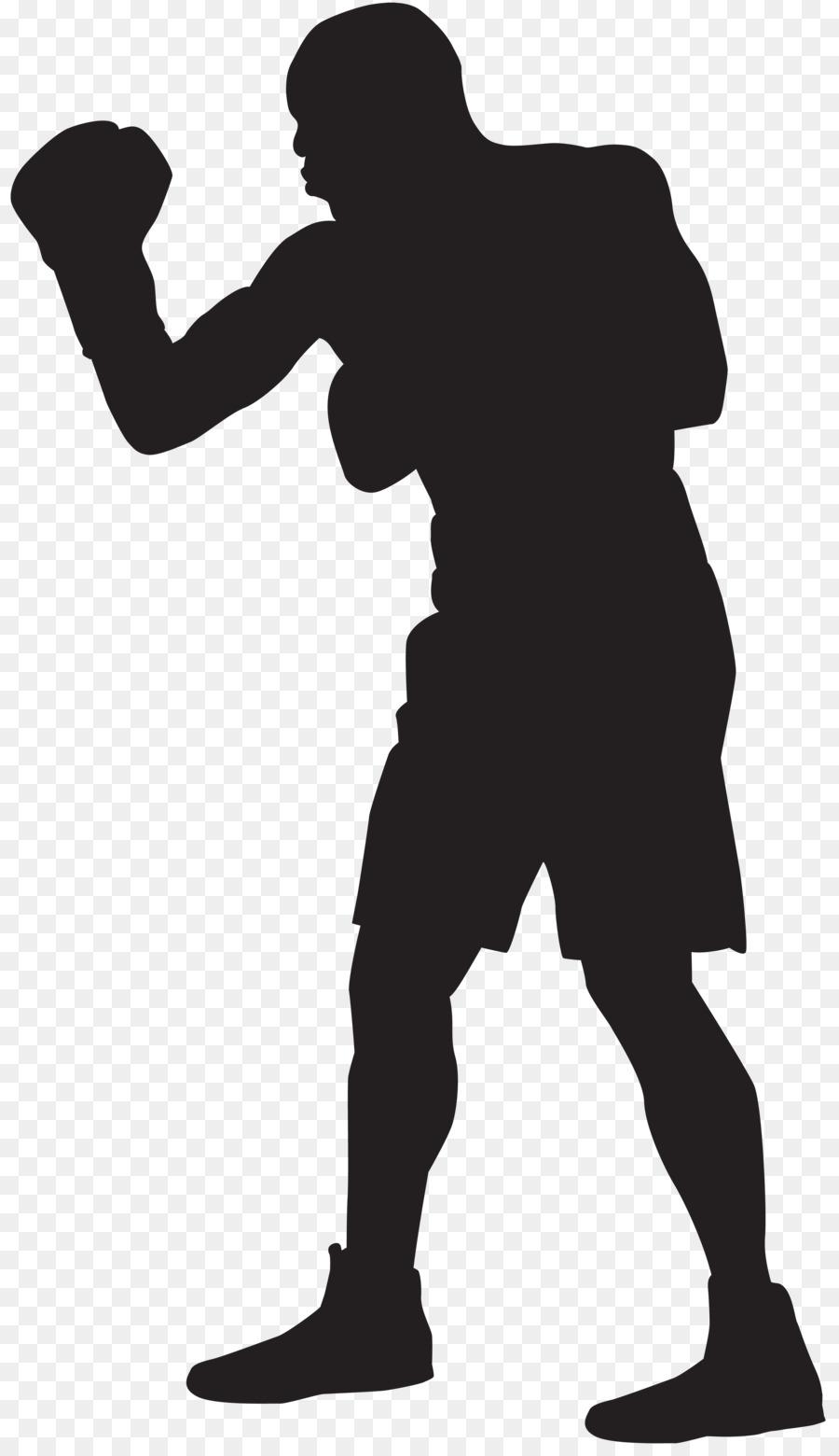 Boxer clipart boxercise. Silhouette clip art boxing