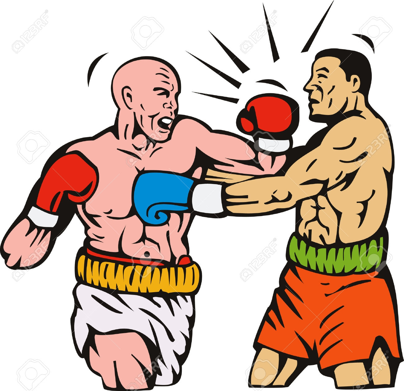 New collection digital m. Boxing clipart boxing knockout