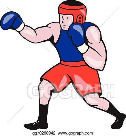 Boxer clipart boxing. Vector art amateur cartoon