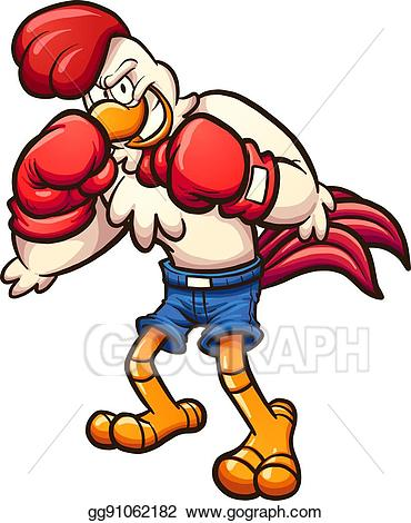 Boxer clipart boxing. Vector art chicken eps