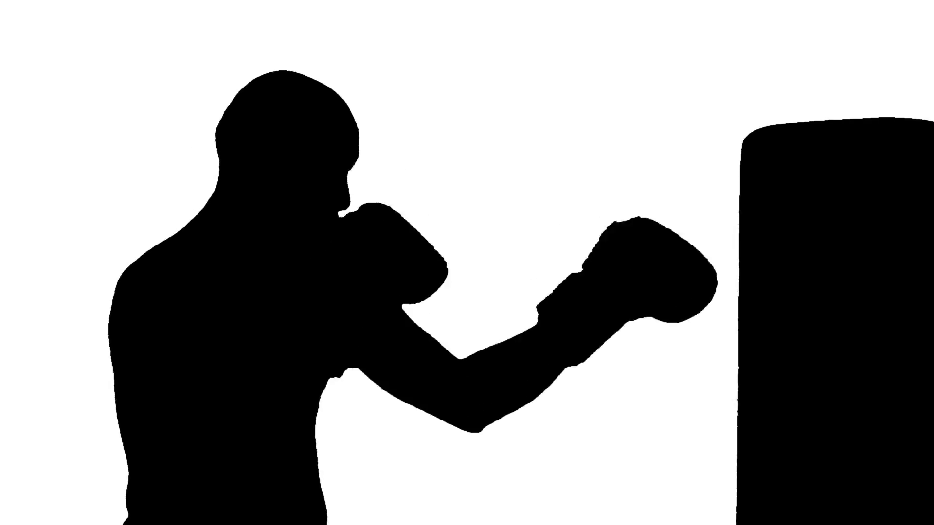 Boxer clipart boxing bag. Punch silhouette at getdrawings