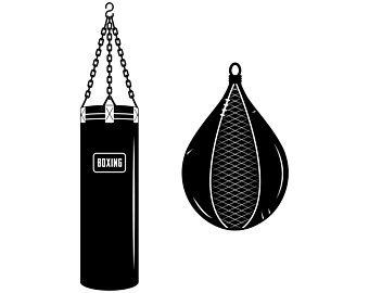 Boxer clipart boxing bag. Etsy punching boxsilhouettesvggraphicsillustration