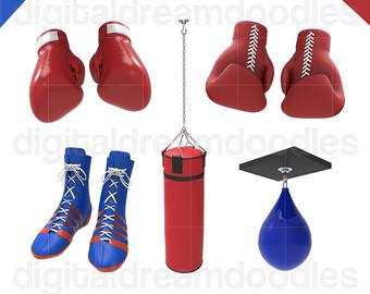 Clip art etsy graphic. Boxer clipart boxing bag