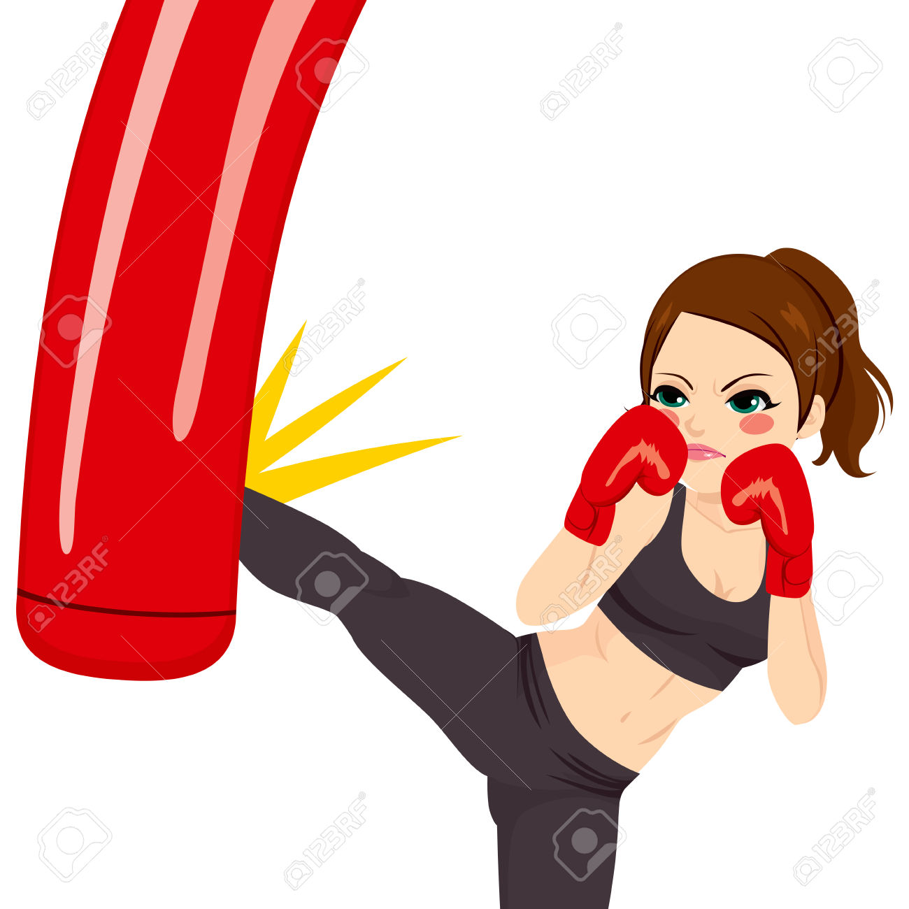 Boxer clipart boxing bag. Gloves art free download